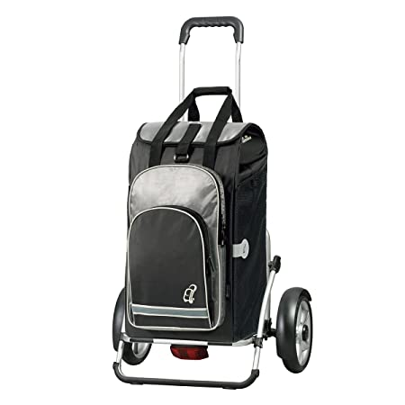 aluminium frame and metal-spoked wheels thermal bag Volume 60L Andersen Shopping trolley Royal with bag Hydro black