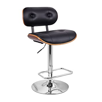 Magnificent Extremely Comfy With Extra Padding And Larger Seat Black Modern Adjustable Swivel Hydraulic Bar Stools Low Back Accent Chair Restaurant And Home Customarchery Wood Chair Design Ideas Customarcherynet