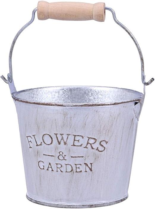 ounona flor cubo maceta balcón jardín decoración del hogar: Amazon.es: Hogar