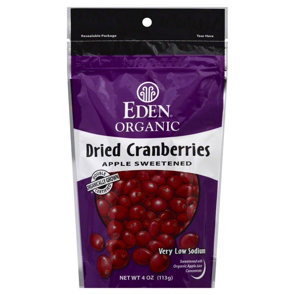 Eden Cranberries Organic Dried 4.0 OZ(Pack of 4) by Eden (Image #1)