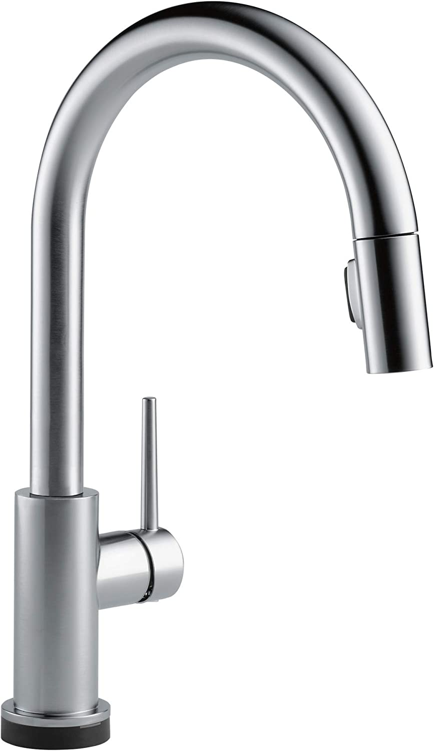 Delta Faucet Trinsic Voiceiq Single Handle Touch Kitchen Sink Faucet With Pull Down Sprayer Alexa And Google Assistant Voice Activated Smart Home Arctic Stainless 9159tv Ar Dst Amazon Com