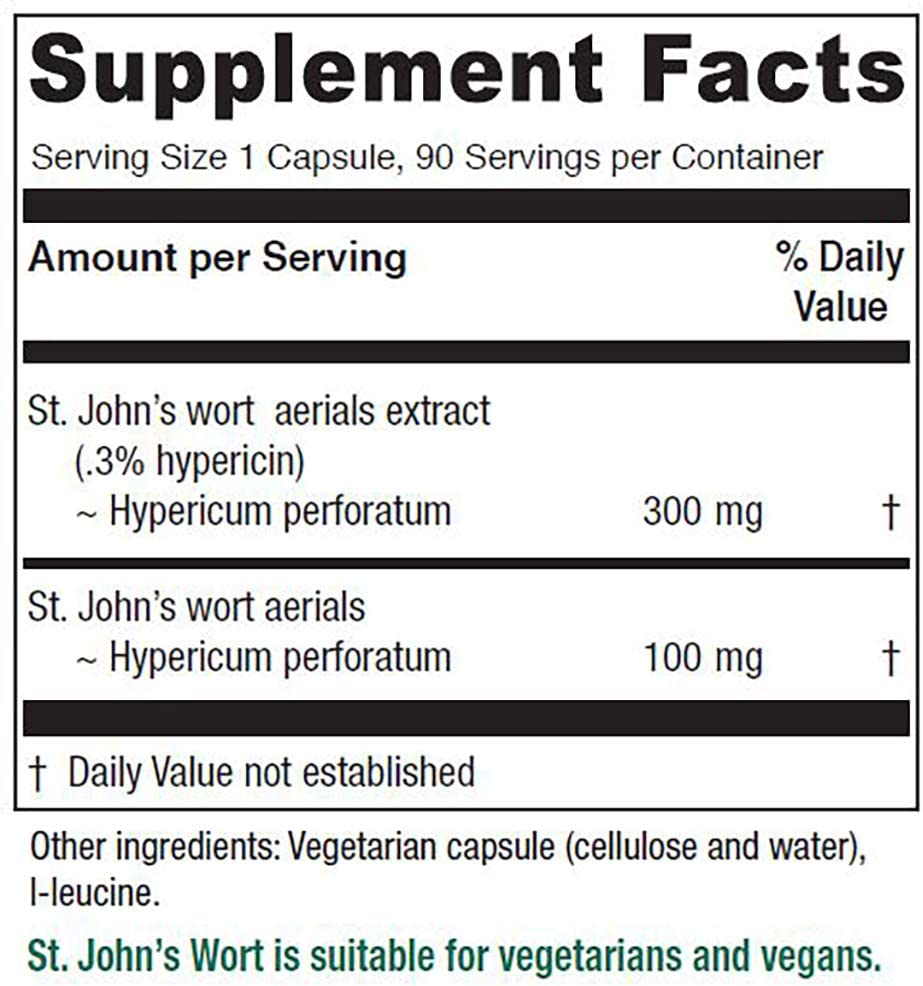 Vitanica, St. John s Wort, Mood and Emotional Support, Vegan, 90 Capsules
