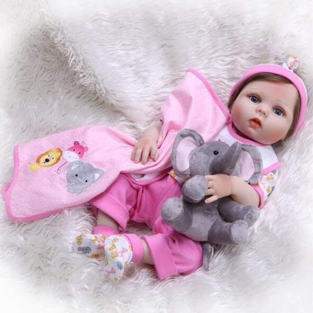 JFW-Reborn Baby Doll Realista Muñeca Realista, Conjunto de Juego de Regalo Tall Dreams, Bebé ponderado de 22 Pulgadas, para Mayores de 3 años