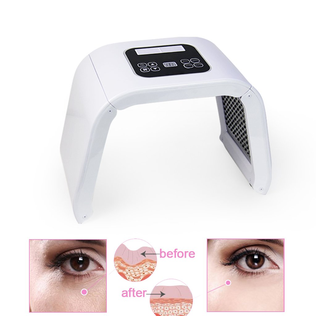 Beauty Machine - PDT 7 LED Light Photodynamic Skin Care Rejuvenation Photon Facial Body Therapy for Skin Rejuvenation Removal Wrinkle, Skin Care Face Lift Facial Beauty Machine