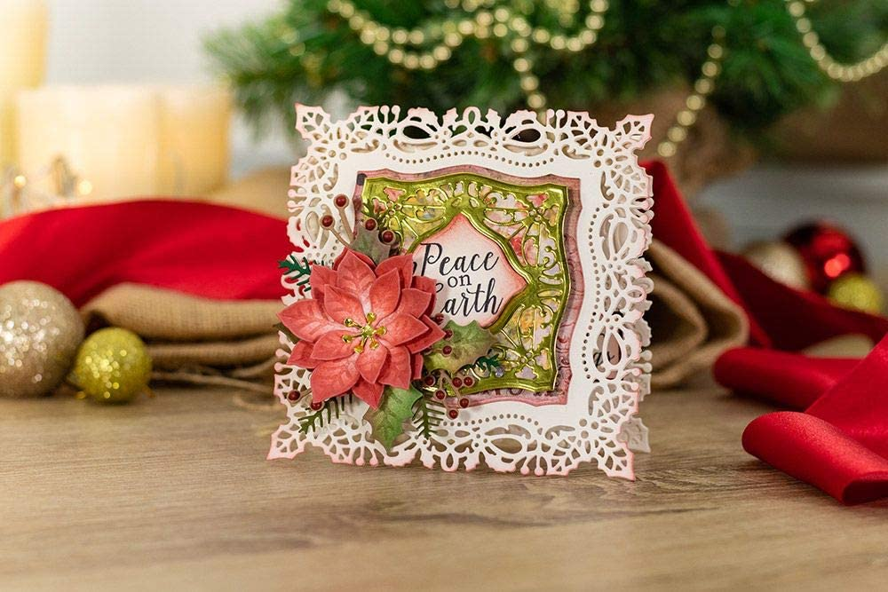 one size Silver Natures Garden Vintage Christmas-Metal Die-Enchanted Ivy
