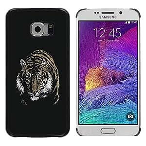 Planetar® ( Fierce Tiger ) Samsung Galaxy S6 EDGE / SM-G925 / SM-G920A / SM-G925T / SM-G925F / SM-G925I Fundas Cover Cubre Hard Case Cover