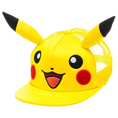 bioWorld Pokémon Pikachu Big Face with Ears Hat, One Size: Toys & Games