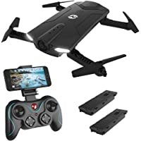 Holy Stone HS160 Shadow FPV RC Drone with 720P HD Wi-Fi Camera Live Video Feed 2.4GHz 6-Axis Gyro Quadcopter for Kids & Beginners - Altitude Hold, One Key Start, Foldable Arms,Bonus Battery