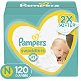 Pampers Swaddlers Disposable Baby Diapers Size Newborn, 120 Count