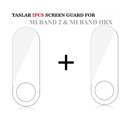 Taslar Screen Scratch Guard Protector for Xiaomi Mi Band 2 & MI Band HRX  Edition (Pack Of 2) (Transparent)