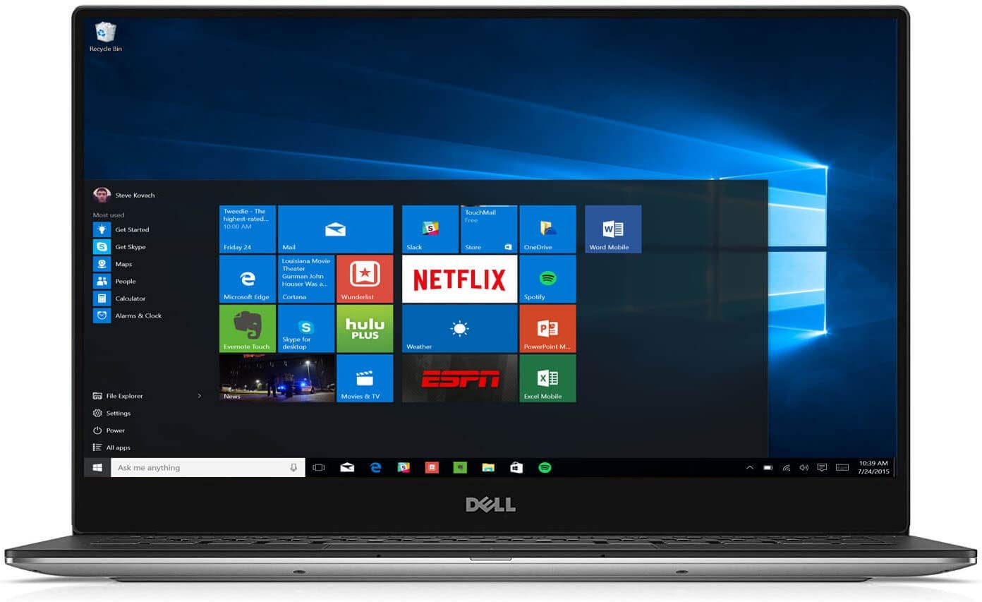 Dell XPS 9360 13.3in FHD Infinity Edge Laptop Intel i7-7560U Dual Core 2.4GHz 8GB 256GB M.2 SSD W10H - XPS9360-7710SLV-PUS (Renewed)