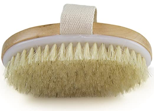 Dry skin brushing benefits - Improves Skin's Health And Beauty - Natural Bristle - Remove Dead Skin And Toxins, Cellulite Treatment , Improves Lymphatic Functions, Exfoliates, Stimulates Blood Circulation