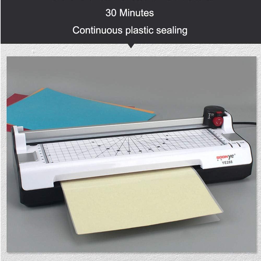 6 en 1//3-5 Minutes A3 Plastifieuse pour Le Pr/échauffage des Documents De Bureau//Photo//Carte Machine /À Laminer ZXGHS Plastifieuse Bureau