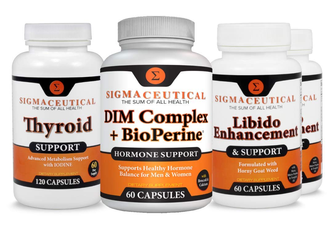 Menopause Relief Max Bundle - DIM Supplement - Thyroid Support - Female Enhancer - 2 Month Supply by Sigmaceutical
