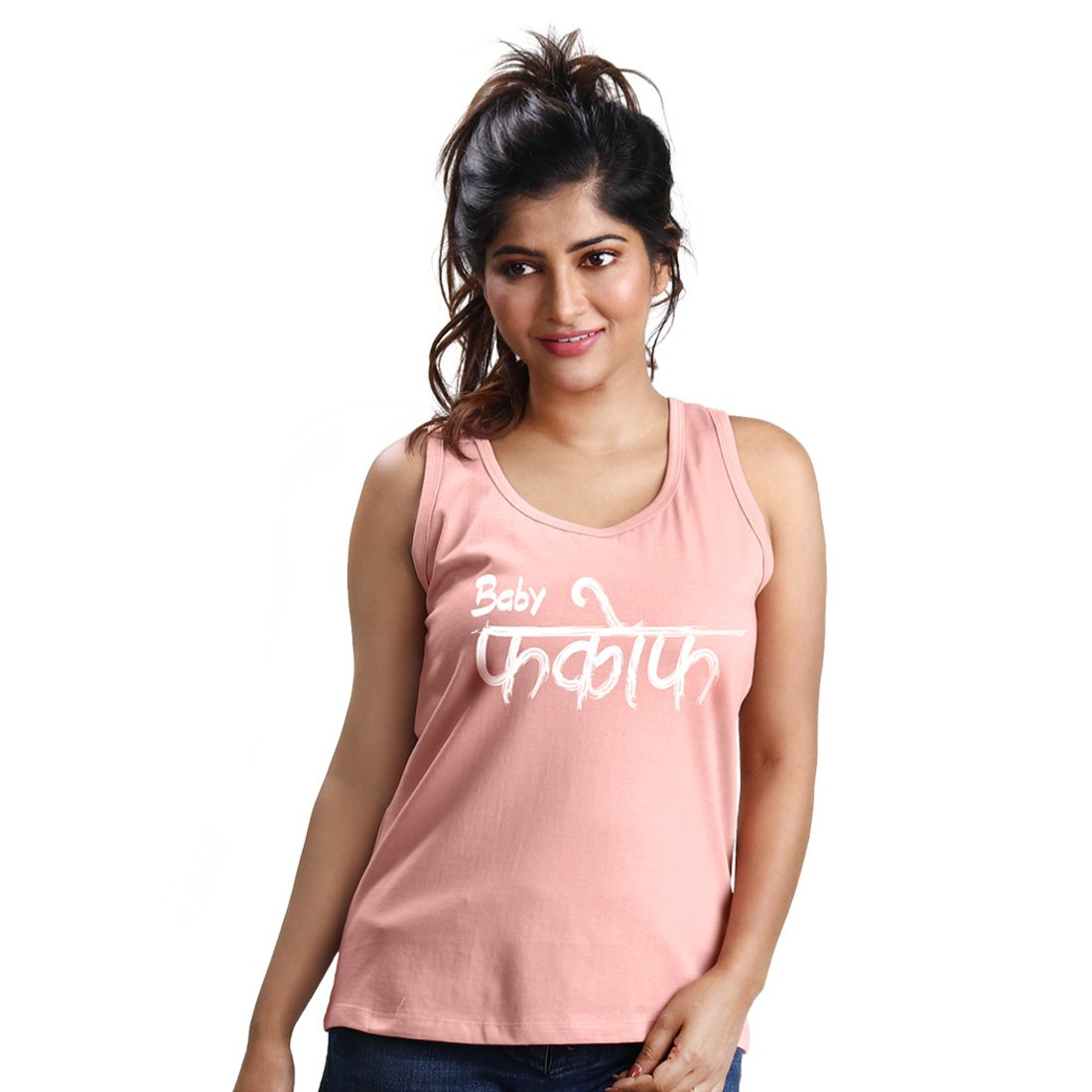 435ee184be0f7 Beyoung Women s Premium Cotton Tank top with Baby Fuck Off Design  (BY-W-SL-005 Medium Pink)  Amazon.in  Clothing   Accessories