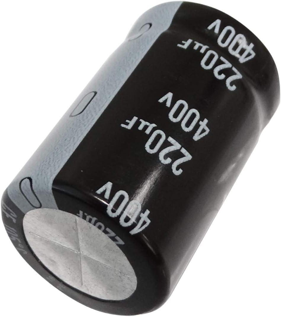Aerzetix 400V DC Condensateur Electrolytique /Ø22x35mm /±20/% C44248 Snap-in 220/µF Radial