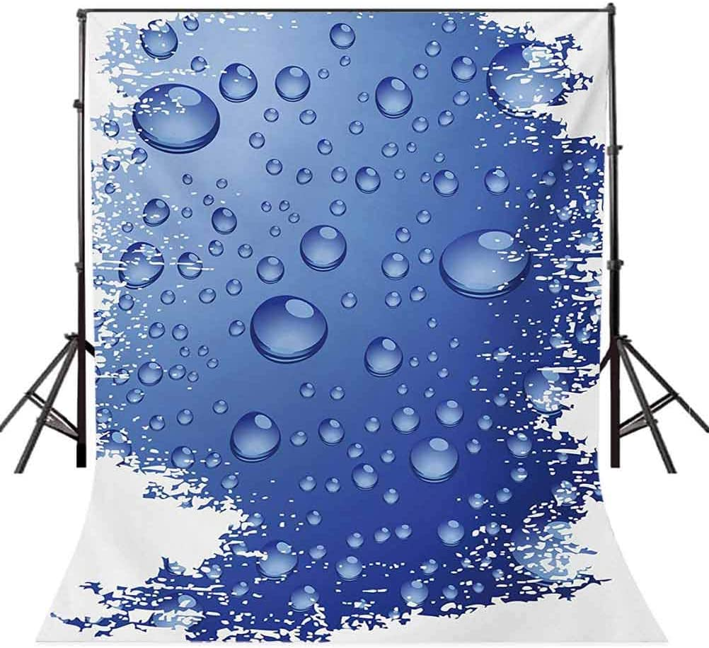 Grunge 10x15 FT Photo Backdrops,Wet Surface Inspired Bubble Water Rain Drop Crystals Freshness Symbol Artsy Design Background for Baby Shower Bridal Wedding Studio Photography Pictures Violet Blue
