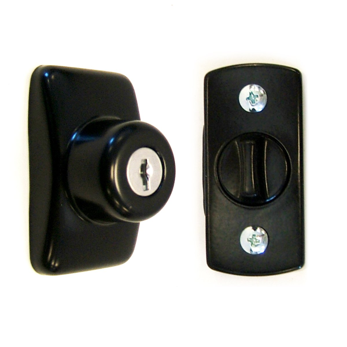 Ideal Security GL Keyed Deadbolt For Storm and Screen Doors Easy to Install Black