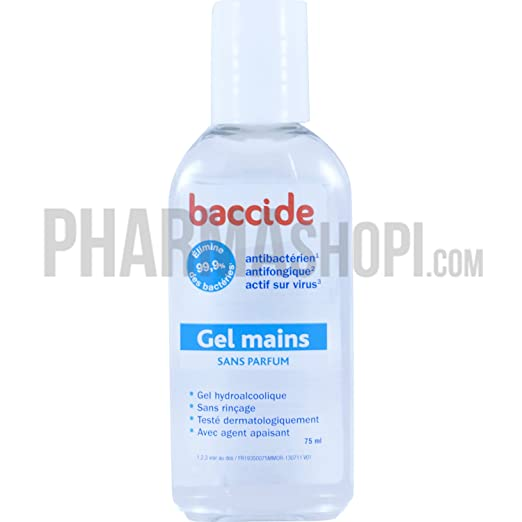 Gel Mains Sans Parfum 75ml Baccide Amazon De Drogerie Korperpflege