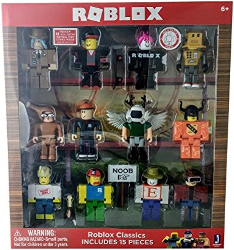 Amazon Com Roblox Series 1 Classics 12 Figure Pack Includes