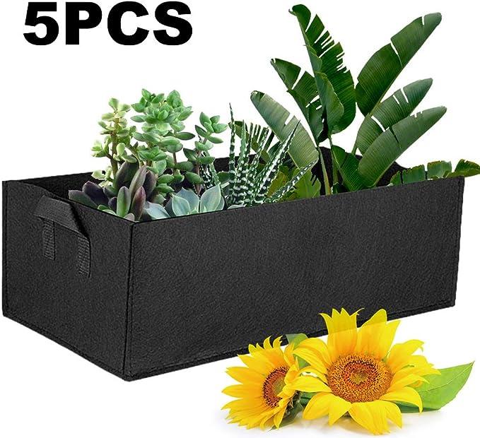 bottlewise Bolsas de Fieltro rectangulares para Cultivo de Plantas ...