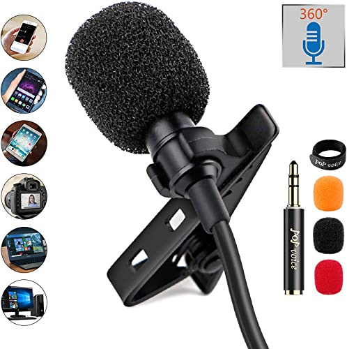 PoP Voice 12.8 Feet Lavalier Lapel Microphone