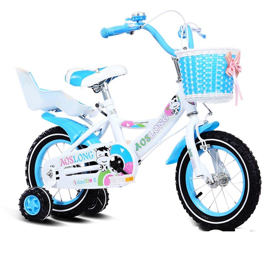 美しい 家チャイルドフォールド自転車3-6-8歳のベビーベビーカー12インチ14インチ16インチ18インチバイク (色 : Blue 3, サイズ さいず : 12Inch) B07CY3P438 12Inch|Blue 3 Blue 3 12Inch