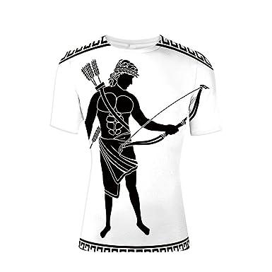 e2b77a96 Amazon.com: T-Shirt Short Sleeves,Silhouette Eros Fantasy Gladiator ...