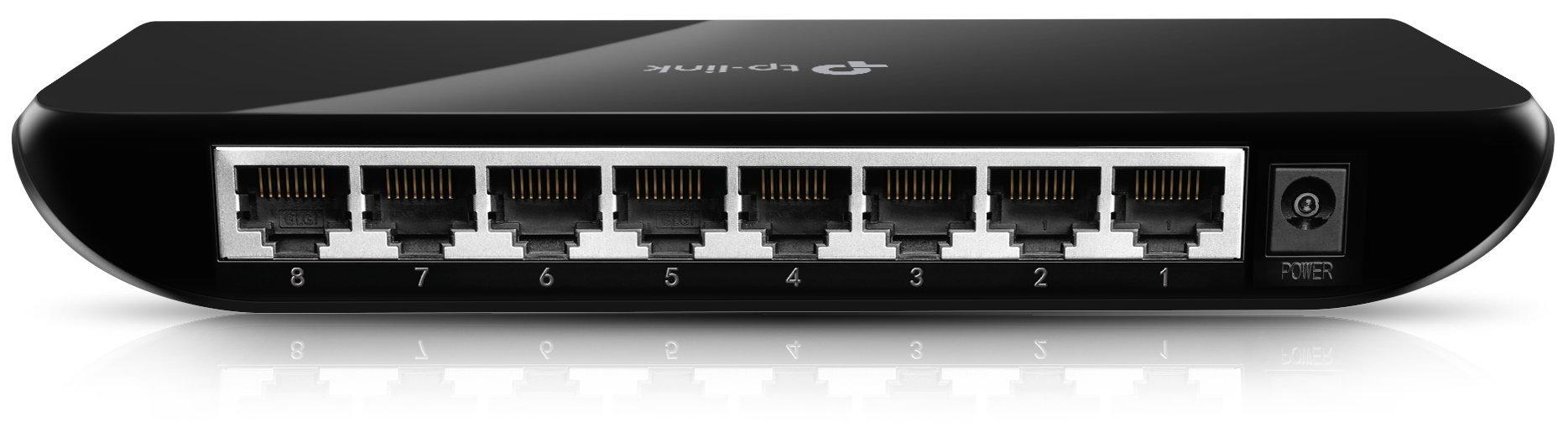 Tp Link 8 Port Gigabit Ethernet Plastic Desktop Switch Tl Sg1008d Capacity8 Modelgigabit The