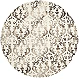 Safavieh Dip Dye Collection DDY689B Handmade Geometric Watercolor Ivory and Chocolate Wool Round Area Rug (7′ Diameter) Review