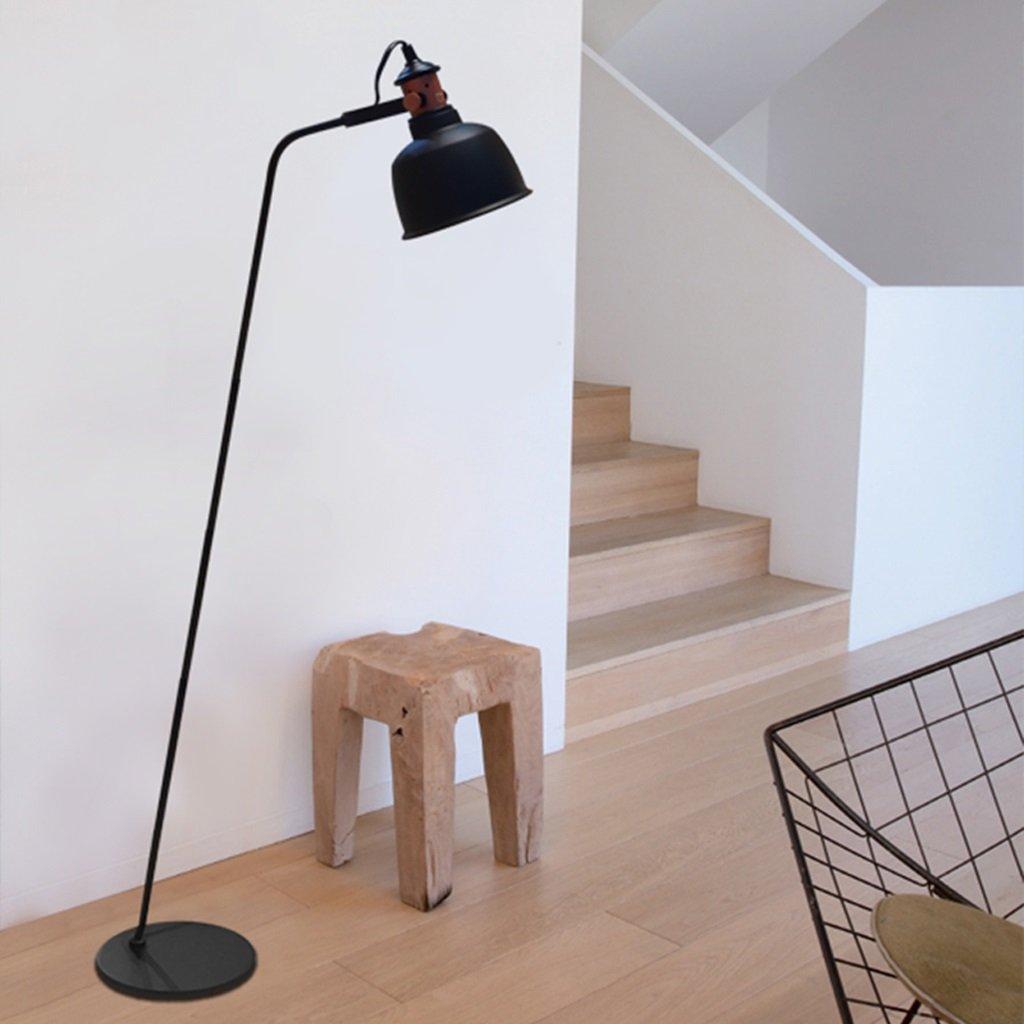 Amerikanisches Wohnzimmer Stehlampe Schlafzimmer den modernen minimalistischen Retro-Industrie Loft Stehlampe einzigen Kopf