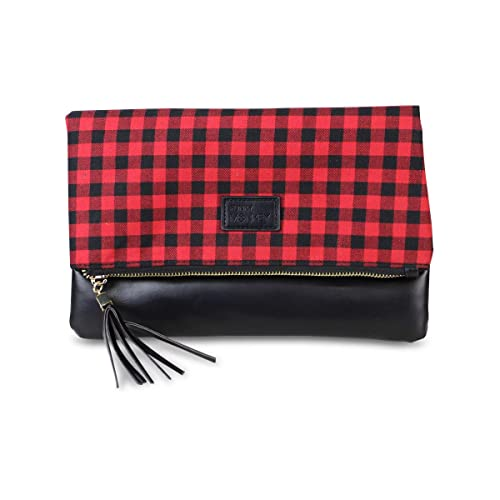 Amazon.com: Buffalo Check - Cartera de muñeca con diseño de ...