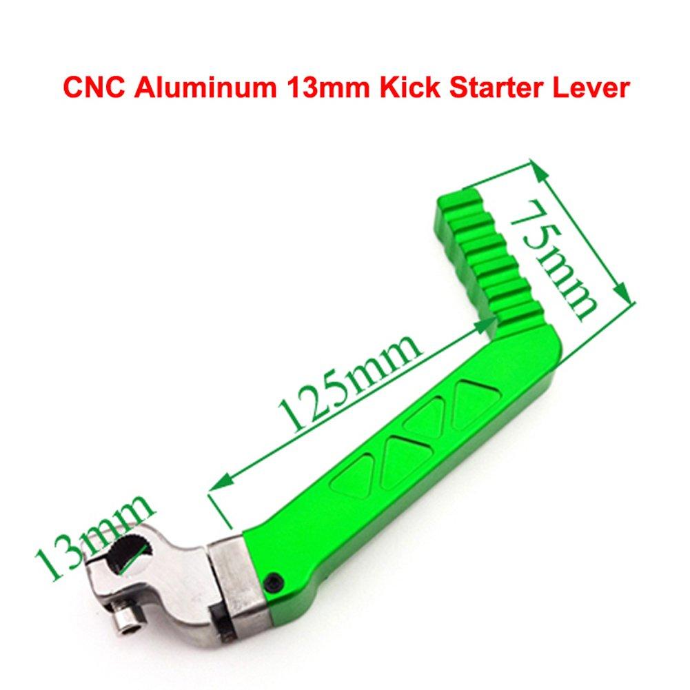 TC-Motor 13mm CNC Aluminum Green Kickstarter Kick Starter Lever For 50cc 70 90cc 110cc 125cc 150cc 160cc Chinese Pit Dirt Bike Motocross