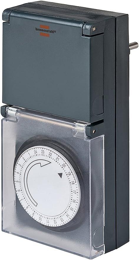 Brennenstuhl Mechanische Zeitschaltuhr MZ 44  Timer Tageszeitschaltuhr IP44