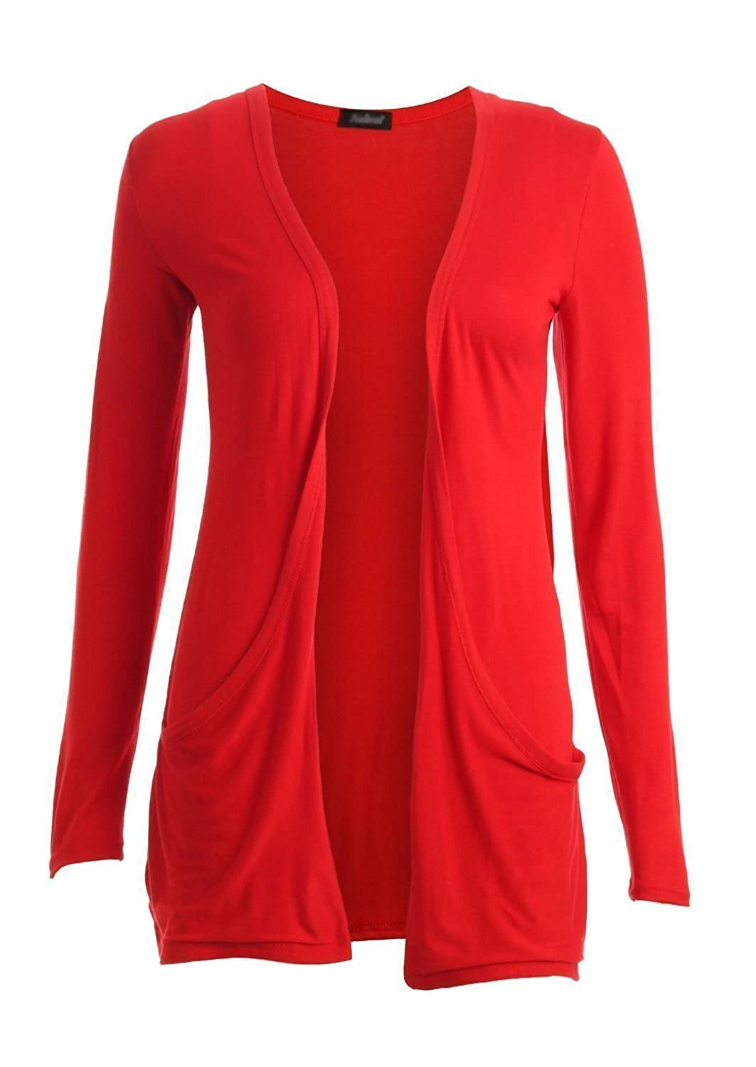 Hot Hanger Ladies Plus Size Pocket Long Sleeve Cardigan 16-26 at ...