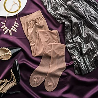 Silky Toes 3 or 6 Pairs Control Top Sheer Pantyhose at Women's Clothing store