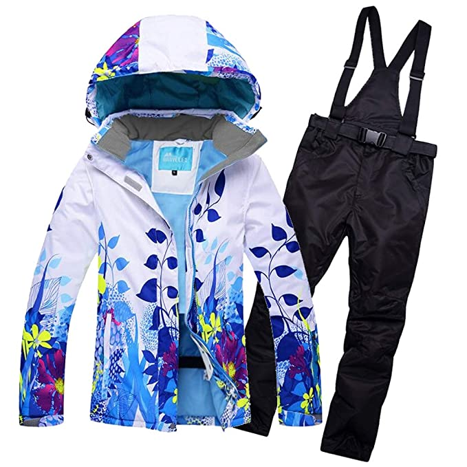 Amazon.com: Juego de chaqueta y pantalones de esquí para ...