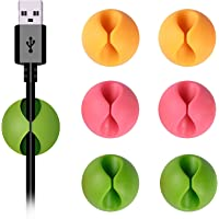 Shintop Cable Clips, Desk Cable Drop, Desk Wire Clips for All Your Computer, Electrical, Charging or Mouse Cord…