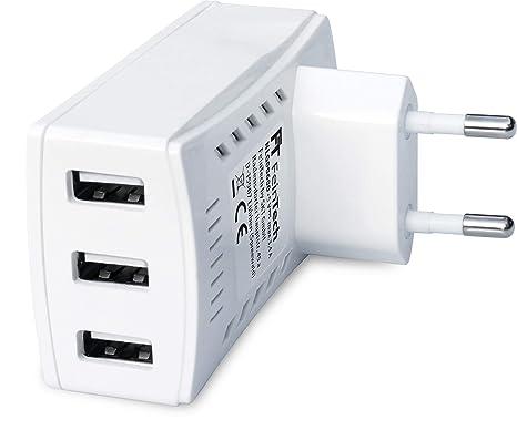 FeinTech NLG00600 Cargador rápido con 3 Puertos USB ...