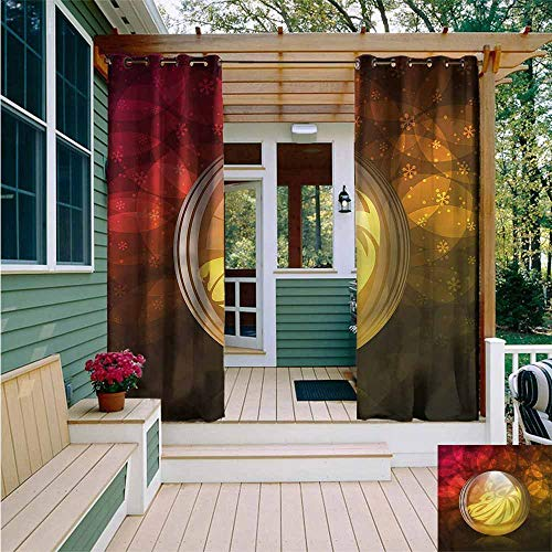 Beihai1Sun Outdoor Curtain Panel for Patio,Astrology Snow Globe Zodiac Sign,Great for Living Rooms & ()