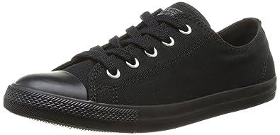 Converse Women's Chuck Taylor All Star Dainty Sneakers (6 B(M) US Women4 D(M) US Men, Black Monochrome)