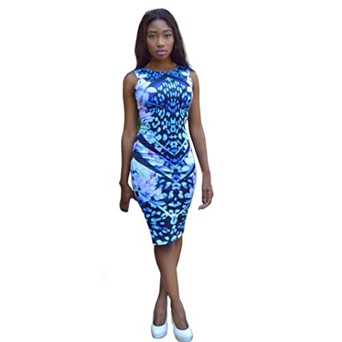 Mosunx(TM) Women Summer Bandage Bodycon Floral Evening Party Mini Dress
