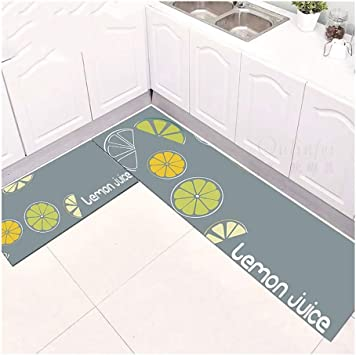 Phbdt Kitchen Corner Non Skid Area Rug Washable Bathroom Rugs Carpet Outdoor Rug Door Mat Suitable For Decorating Bathroom Door Kitchen Color E Size 1 62 6ft Furniture Decor