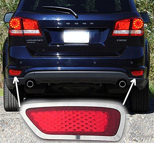 Rear Bumper Marker Chrome Trim Fits 2012 - 2016 Dodge Journey