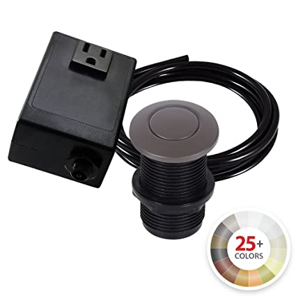 single outlet garbage disposal turn on off sink top air switch kit rh amazon com Switched Outlet Wiring Garbage Disposal Under Sink Garbage Disposal