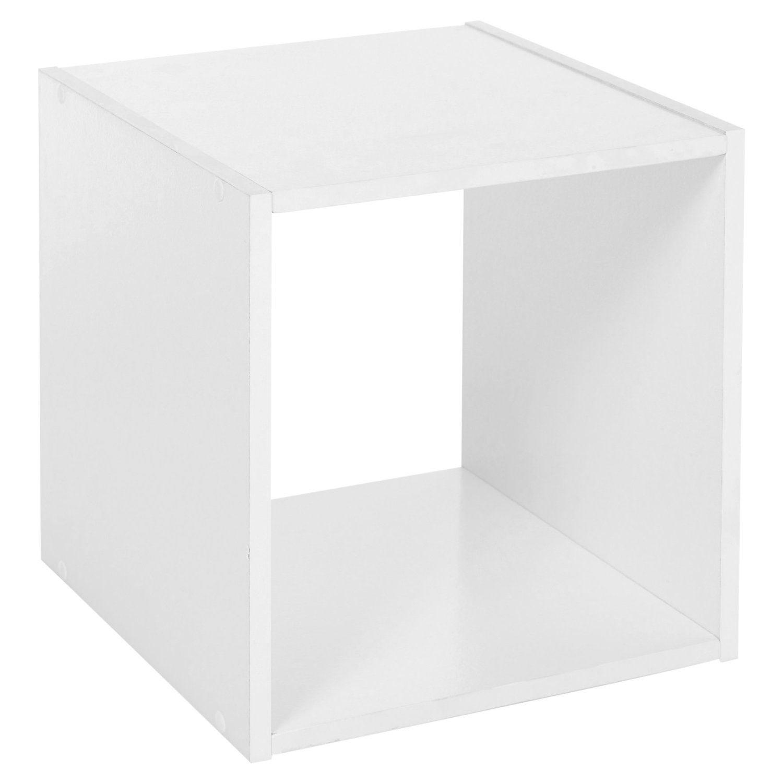 in laminato Mobiletto in legno stile moderno Black a forma di cubo Libreria resistente a 2/3/4/scaffali in confezione piatta 2 ripiani per casa o ufficio