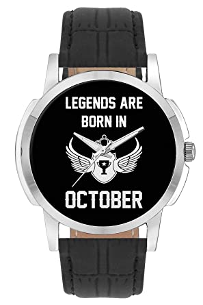 BigOwl Legends Are Born In October Birthday Gift For Him Wrist Watch Men