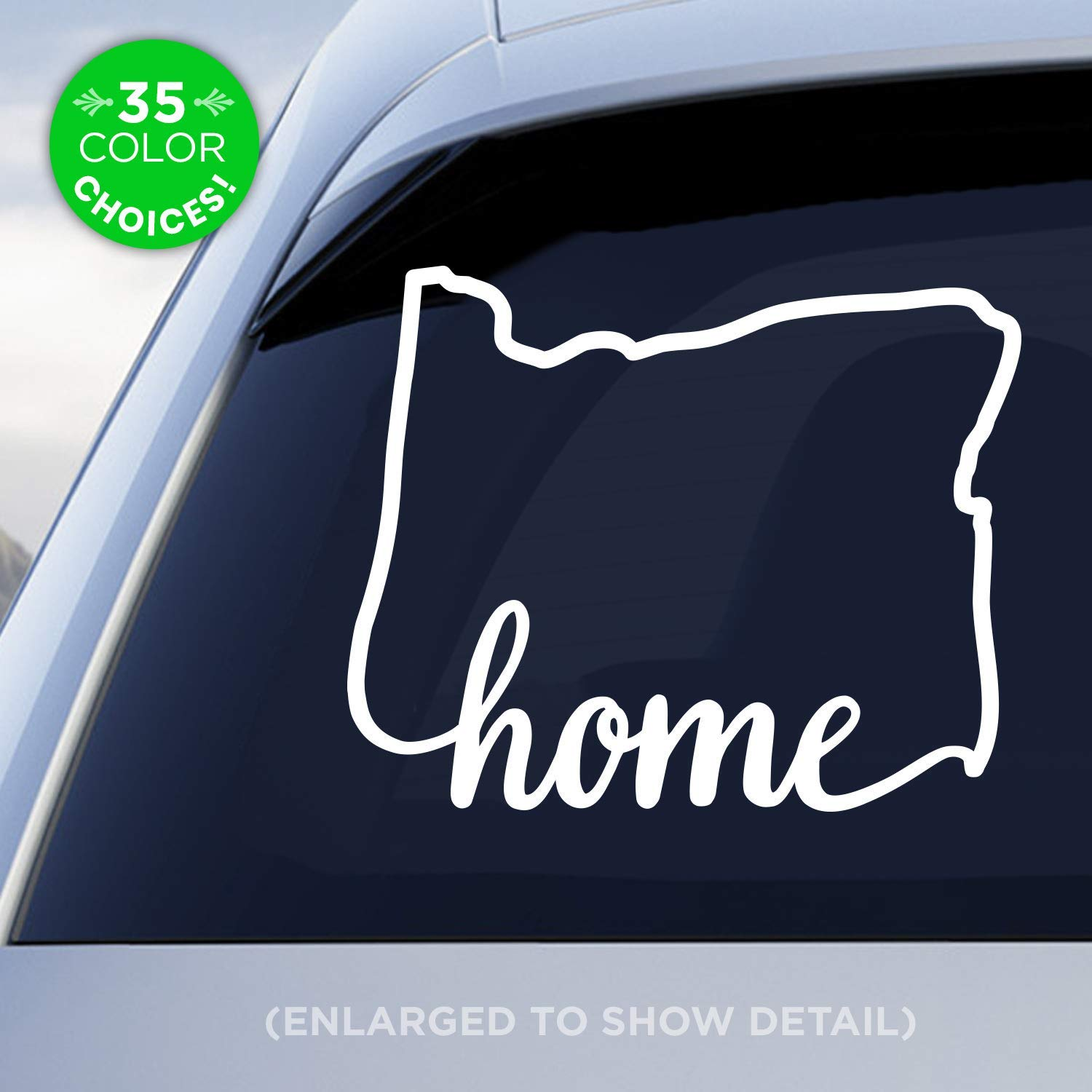 Amazon com oregon state home decal or home car vinyl sticker add an optional heart over portland eugene salem or bend made with outdoor vinyl