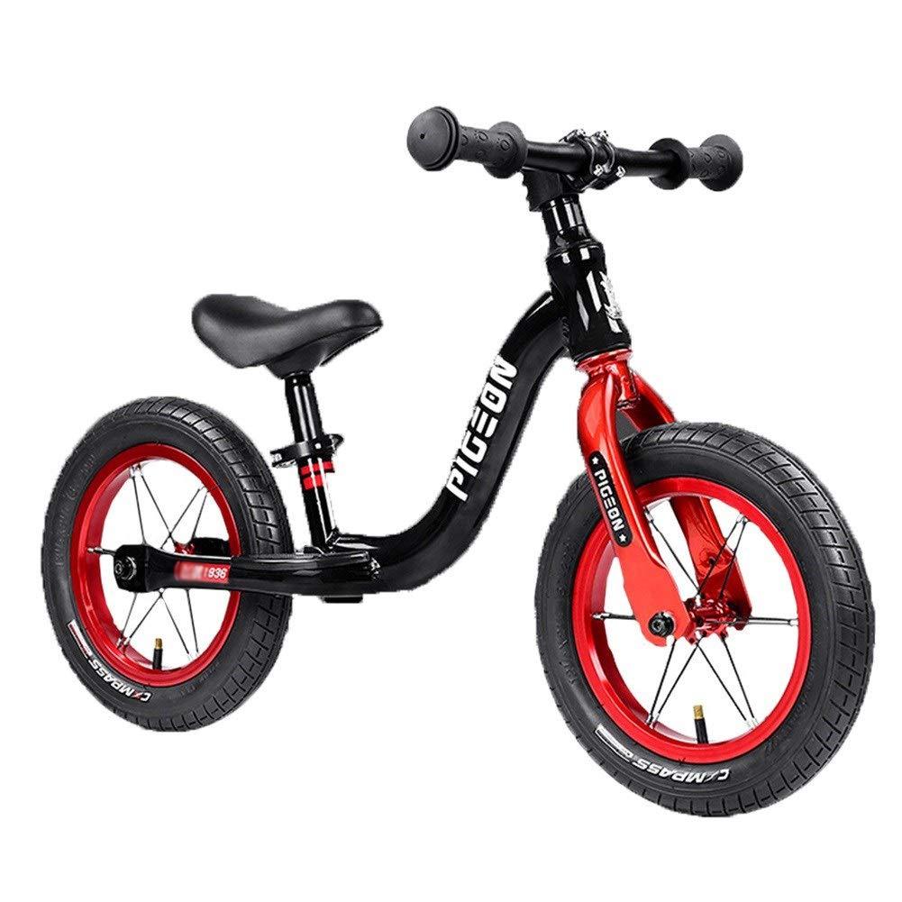 Bicicleta sin Pedales Balance Bike - Pedal de Pedal Antideslizante para niños y niñas, Bicicleta, Actividades al Aire Libre en Interiores para niños pequeños de 1-6 a 12   ( Color   negro )