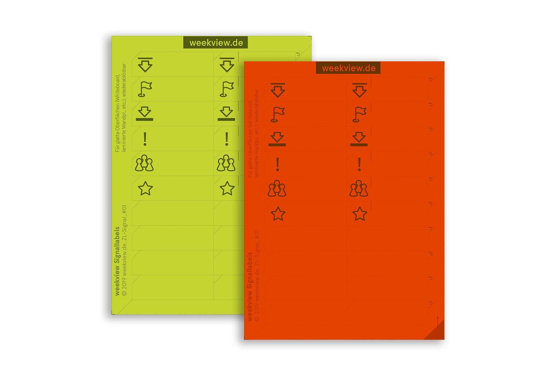 Agenda de pared 2020 A1 (2 x A2h), de colores, lavable ...